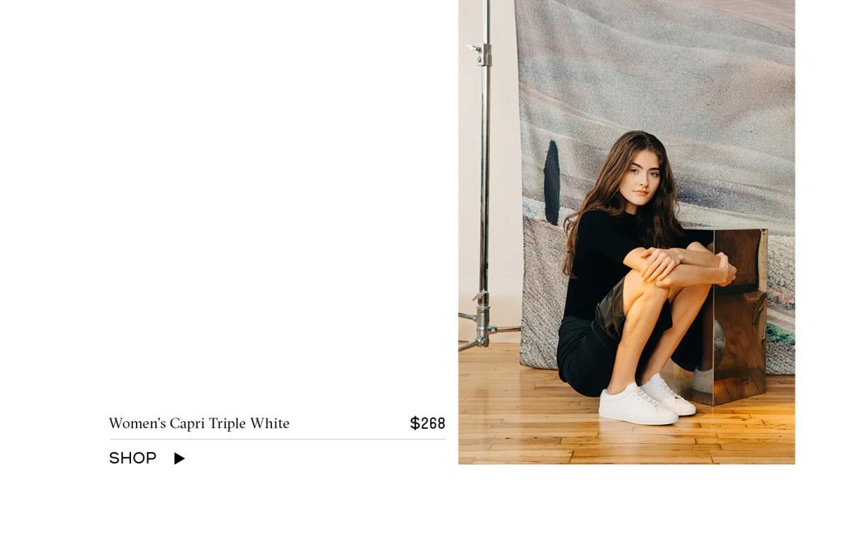 Shop Women's Capri Triple White