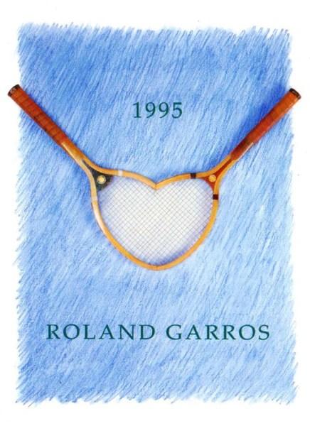 1995 Roland Garros Poster Tennis Gallery Wimbledon