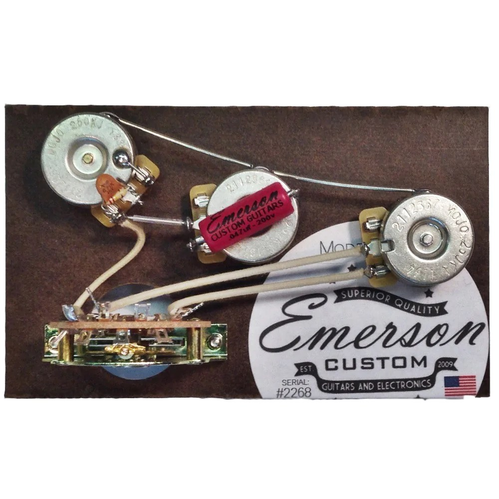 hight resolution of  emerson custom blender 5 way strat prewired kit 250k on fat strat wiring diagram