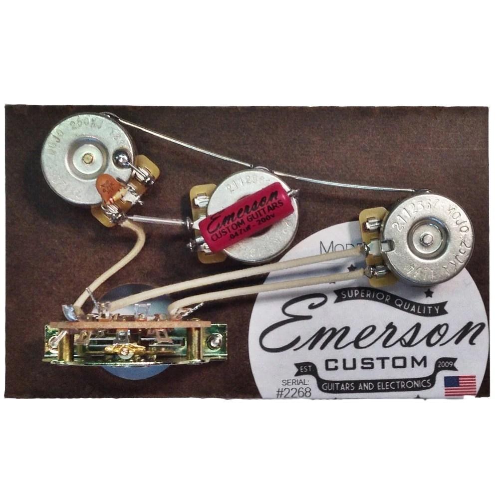 small resolution of  emerson custom blender 5 way strat prewired kit 250k on fat strat wiring diagram