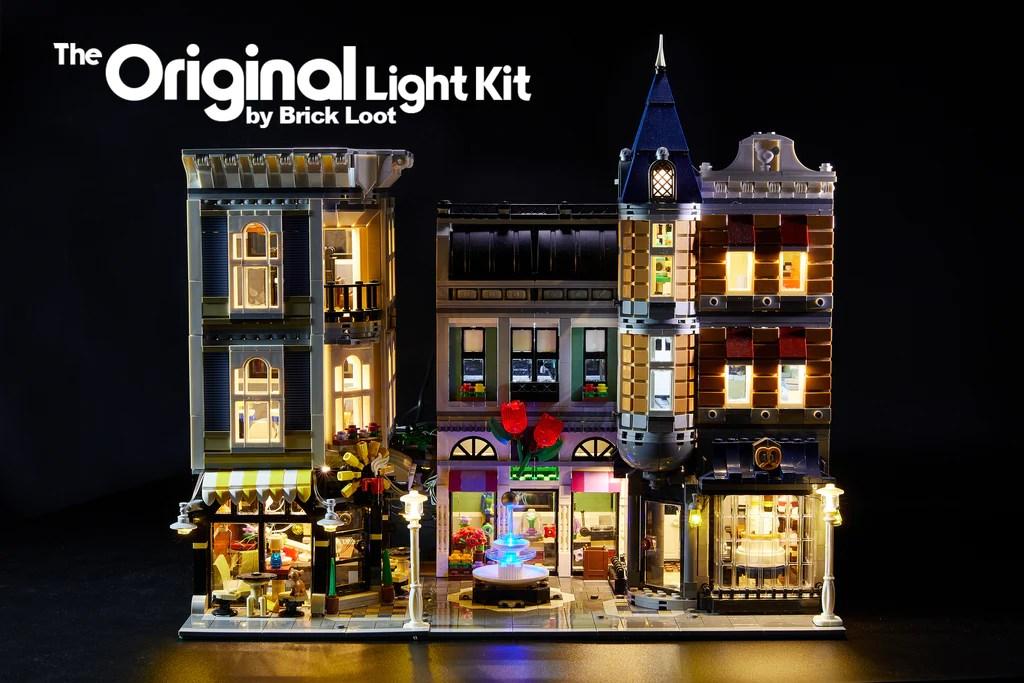 led lighting kit for lego assembly square 10255