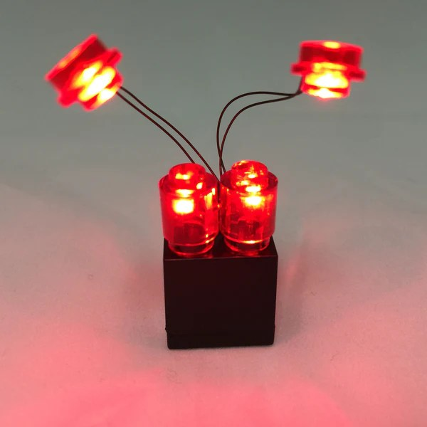 LED Iron Man Lights Red with 2x3 Battery Brick  Brick Loot
