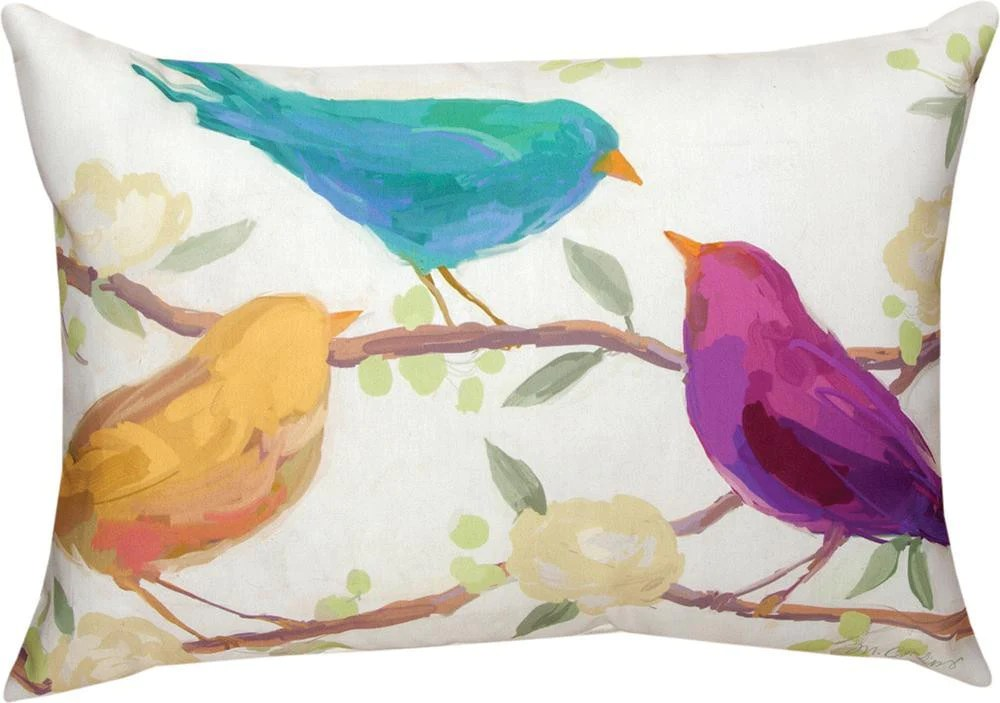 bird song indoor outdoor rectangle pillow by martha collins c 2 sizes