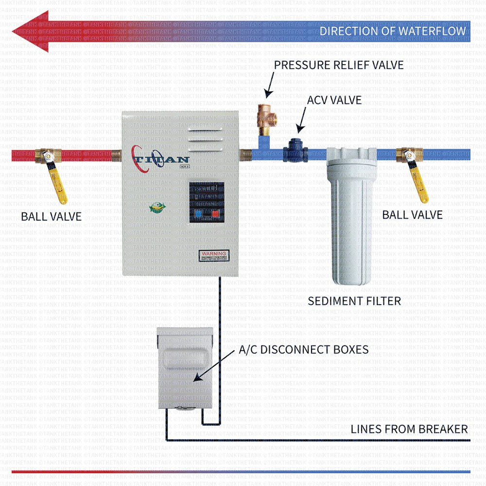 hight resolution of installation diagram for titan n85 through n120 tankless water heater