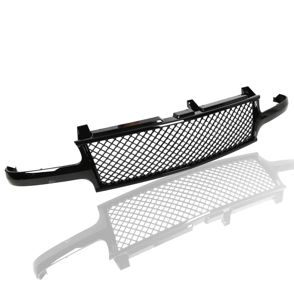 aa products front grille mesh hood bumper grill cover for 1999 2002 chevy silverado 1500 [ 1024 x 1024 Pixel ]
