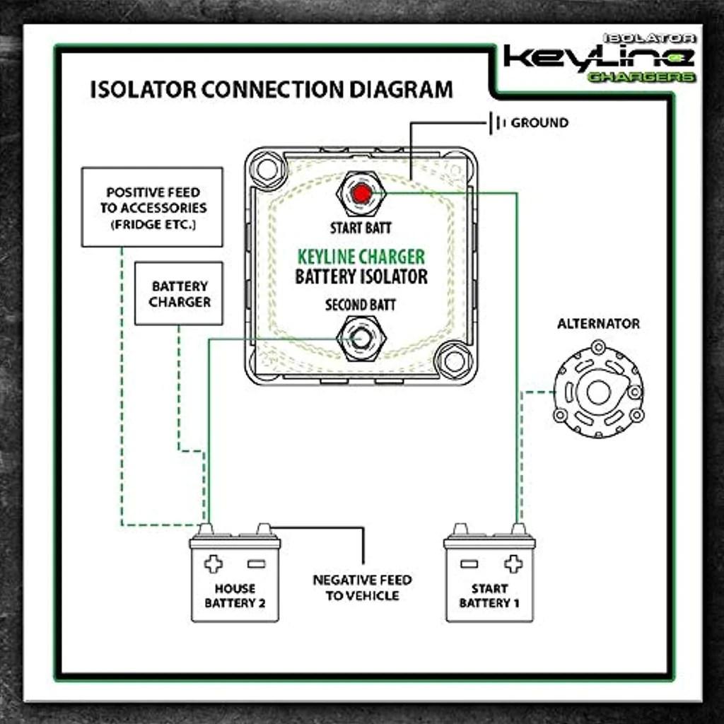 hight resolution of 12v 140 amp dual battery isolator w dual battery kit