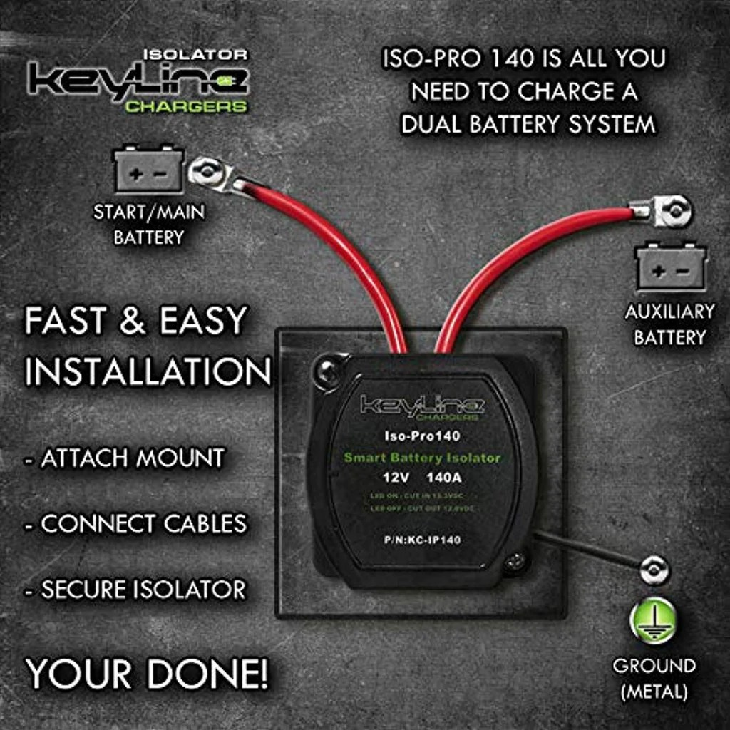12v 140 amp dual battery smart isolator [ 1024 x 1024 Pixel ]