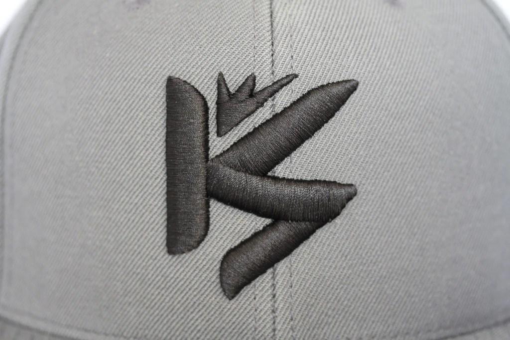 KS Wool Look Grey Snapback KOTA Brand