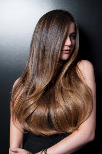 Balayage 160g 20 Ombre Dark BrownChestnut Brown Hair