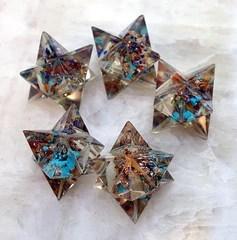 Orgone Merkabas with Chakra Gemstones