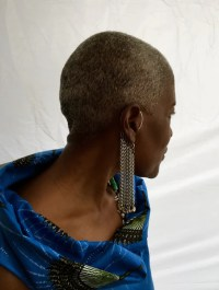 Behind the Ear Curtain Earring | Nyet Jewelry