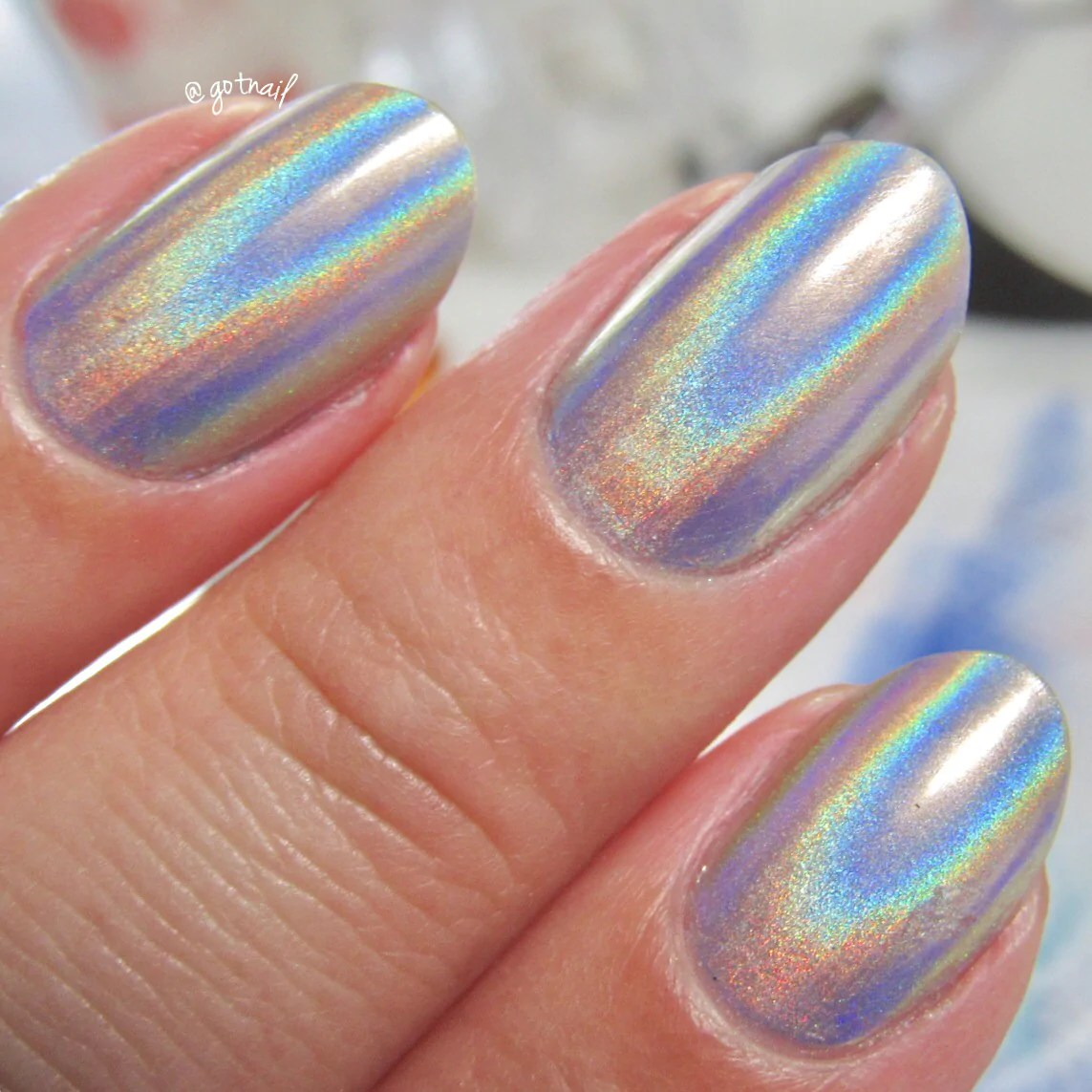 whats nails - holographic powder