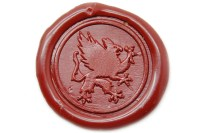 Heraldic Mythical Animal Griffin Wax Seal Stamp - Backtozero