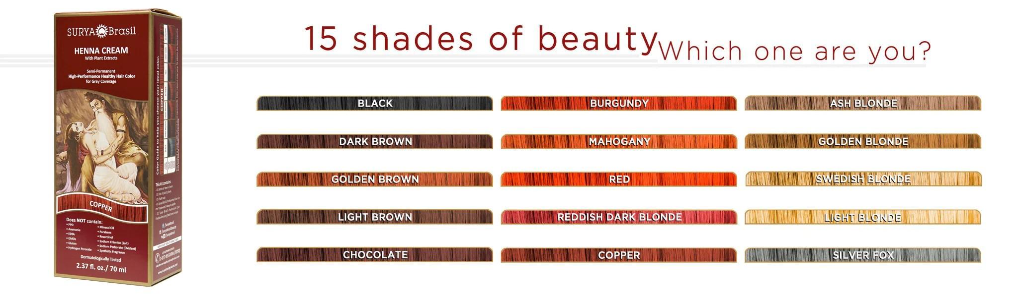 Henna Cream Healthy Hair Color Surya Brasil Surya Brasil