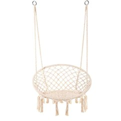 Swing Chair Home Town Wooden Step Stool The 8 Best Macrame Hanging Hammock Chairs E Everking Cotton Rope Indoor