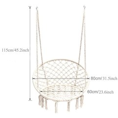 Swing Chair Drawing Design Photo Sonyabecca Hammock Macrame 265 Pound Capacity Handmade Knitted Hanging For Indoor