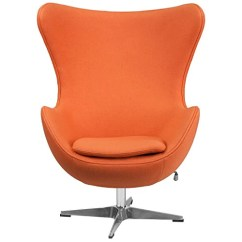 Orange Egg Chair Vinyl Mesh Fabric For Sling Chairs Wool With Tilt Lock Mechanism Hammock Town Flash Furniture