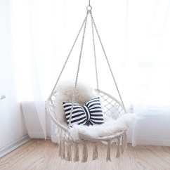 Chair For Baby Ruched Spandex Cover Handmade Knitted Hanging Babies Fine Hammock Town