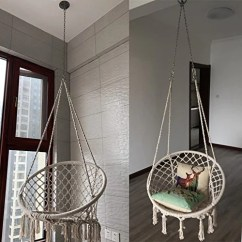 Swing Chair Home Town Baby Rocking Chairs South Africa Sonyabecca Hammock Macrame 265 Pound Capacity Handmade Knitted Hanging For Indoor