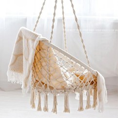 Swing Chair Home Town Dining Casters Hammock Macrame Hanging For Reading Leisure 330 Pound Capacity
