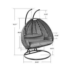 Swing Chair Drawing Folding Chairs Target Usa Luxury Outdoor Wicker Hanging With Stand And Cushion By Island Gale