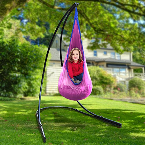 swing hammock chair with stand dunelm loose covers for hanging chairs swings loungers town