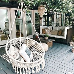 Swing Chair Home Town Cheap Covers Auckland Sonyabecca Hammock Macrame 265 Pound Capacity Handmade Knitted Hanging For Indoor