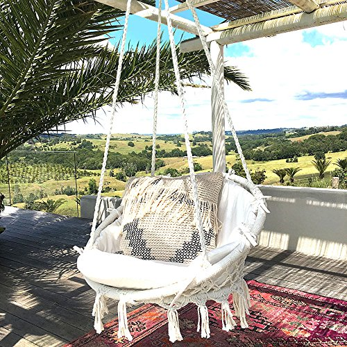 indoor hammock chair wedding cover hire services chairs outdoor hanging town sonyabecca macrame swing 265 pound capacity handmade knitted for