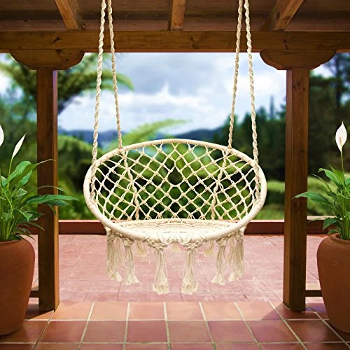 swing chair home town posture desk e everking hammock macrame hanging cotton rope indoor