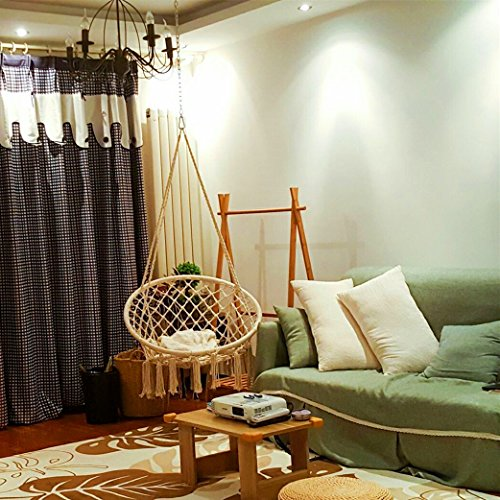 swing chair home town grete jalk sonyabecca hammock macrame 265 pound capacity handmade knitted hanging for indoor