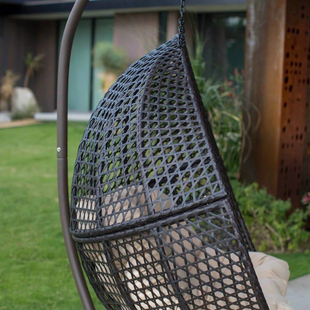 hanging chair loveseat purple accent chairs living room egg for luxury outdoor patios