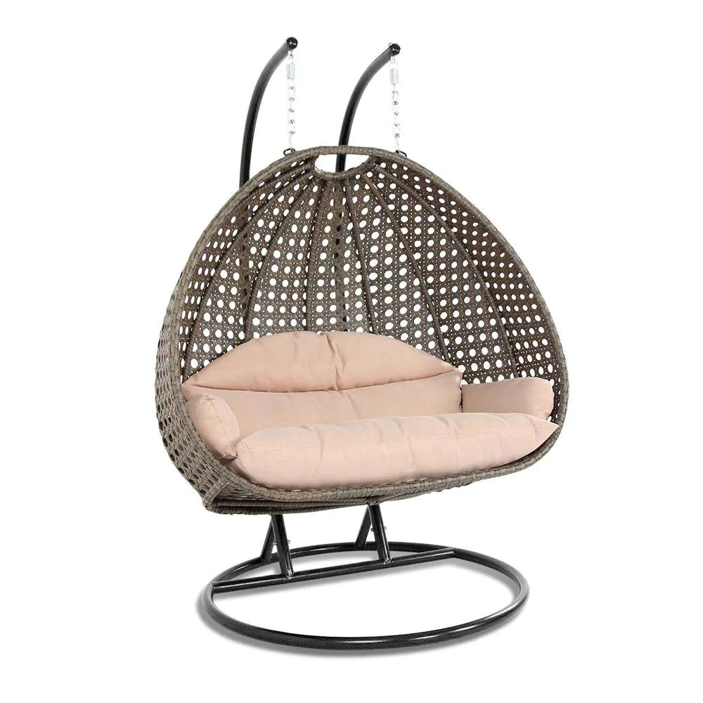 Swing Chair Stand Wicker Swing Chair With Stand For Two People Dubai Collection