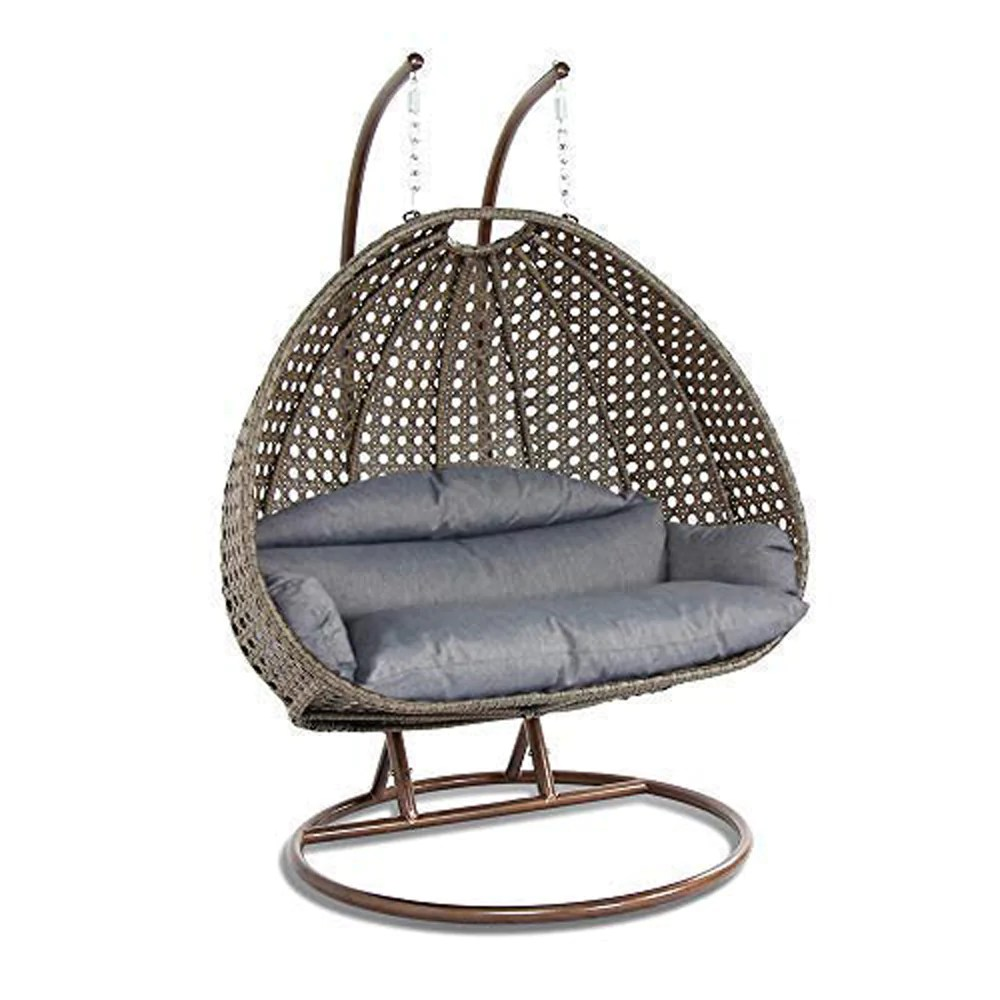 Hanging Chair Outdoor Luxury Outdoor Wicker Hanging Chair With Stand And Cushion By Island Gale