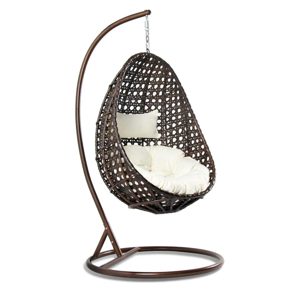Outdoor Wicker Hanging Egg Chair - Hammock Town