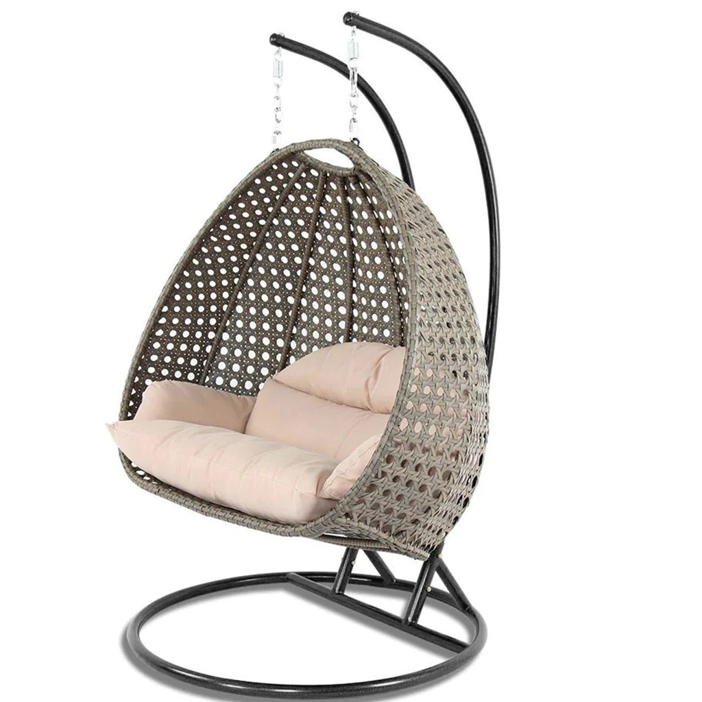 Egg Swing Chairs Wicker Swing Chair With Stand For Two People Dubai Collection