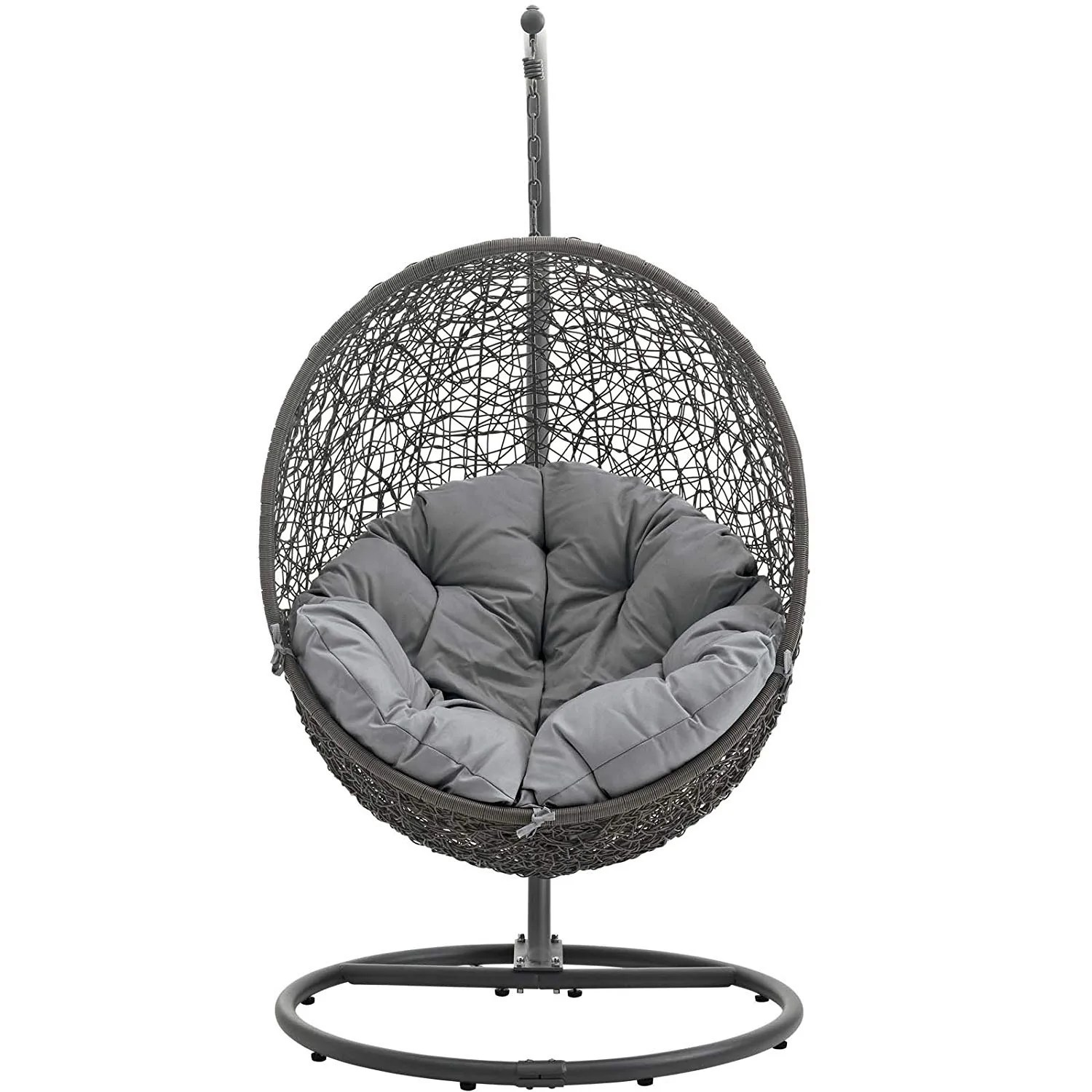 Swing Chair Stand Modway Hide Outdoor Patio Swing Chair Gray