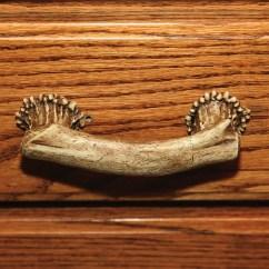 Rustic Kitchen Cabinet Appliance Bundle Deer Antler Drawer Or Pull 655 | Buffalo Trader Online