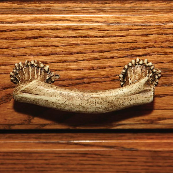 pull knobs for kitchen cabinets hideaway table deer antler drawer or cabinet 655 | buffalo trader online