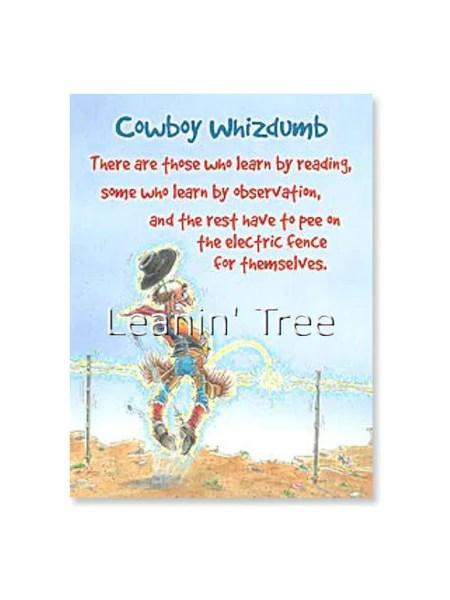 Leanin' Tree Cowboy Whizdumb Birthday Card 14488 Buffalo