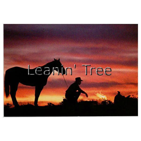 Leanin Tree Road Less Traveled Cowboy Birthday Greeting