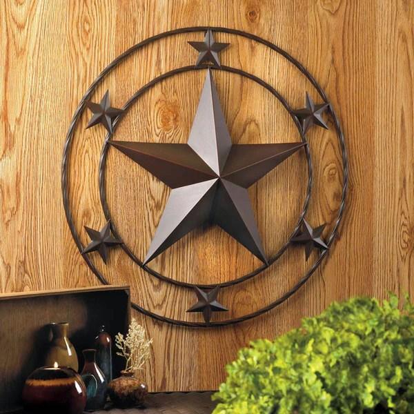 Lone Star Metal Wall Plaque 10017000  Buffalo Trader Online