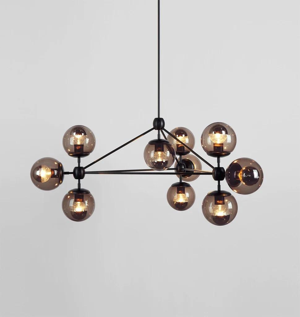 modo chandelier 3 sided 10 globes