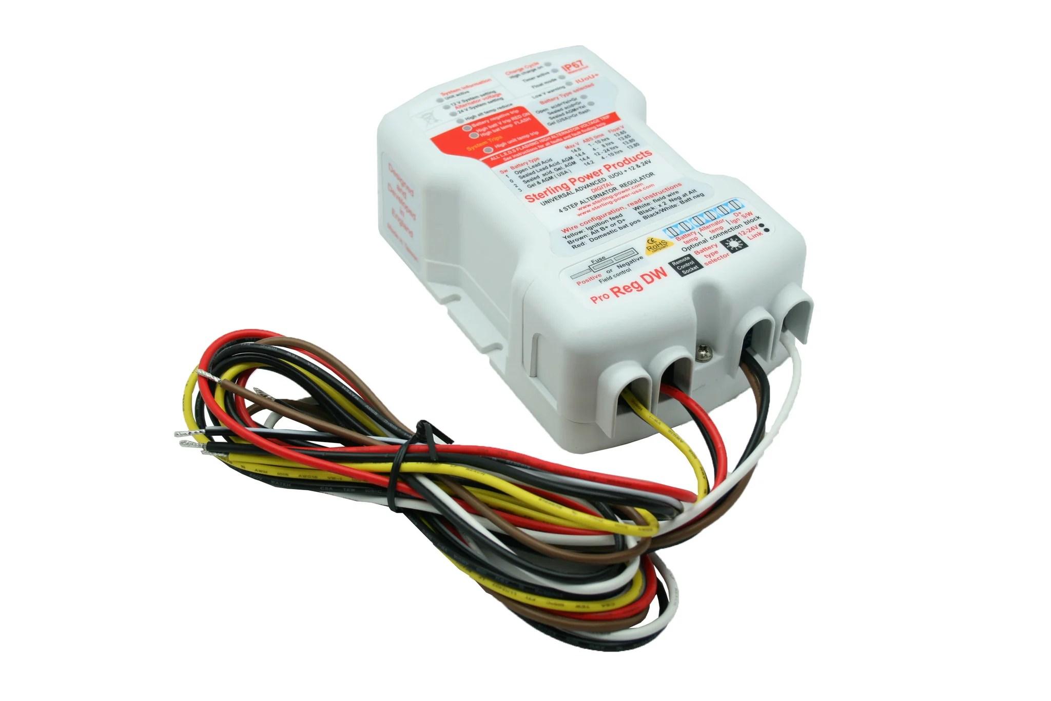 hight resolution of universal advanced digital alternator regulator pro reg dw waterproof pdarw 220 80 products