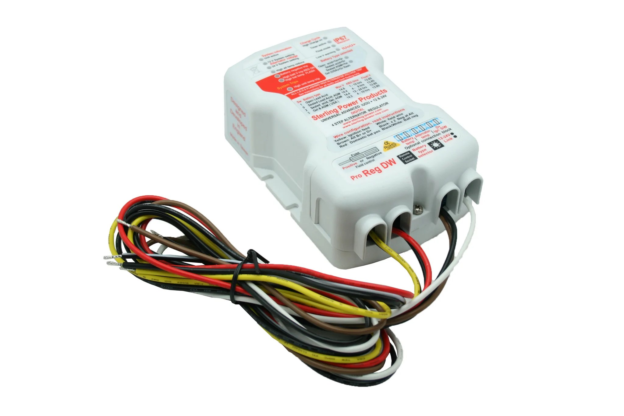small resolution of universal advanced digital alternator regulator pro reg dw waterproof pdarw 220 80 products