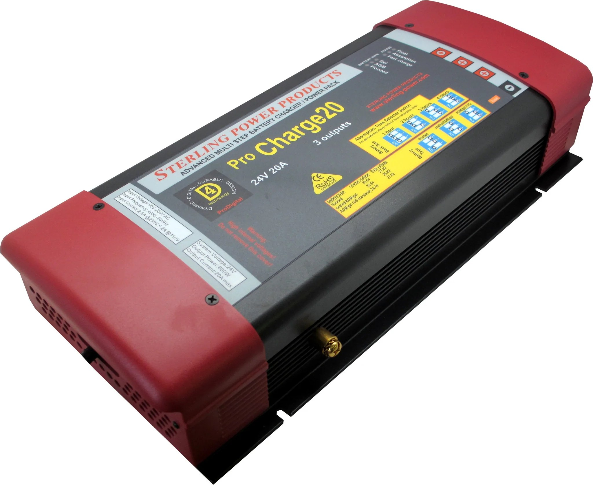 small resolution of pro charge c 24v 20a ac to dc battery charger 30 days warranty