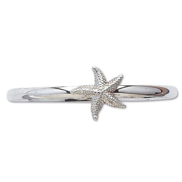 Sterling Silver Starfish Bangle Bracelet Mullen Jewelers