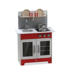 Hape Kitchen Unfinished Pine Cabinets Play Set With Accessories E3144 Canabee Baby