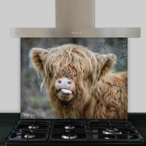 kitchen cushion mat utensil set raspberry cow splashback | villager jim's shop