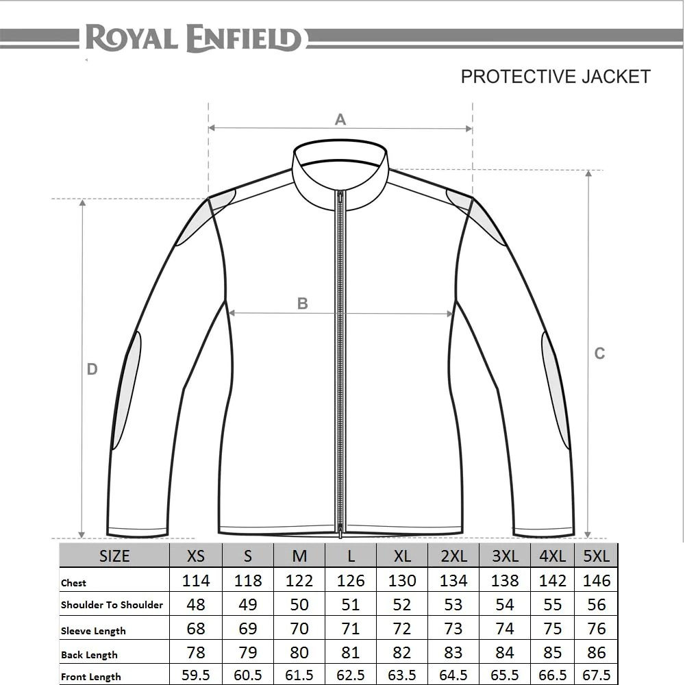 Size chart also buy kaza classic adventure touring jacket grey online royal enfield rh storeyalenfield