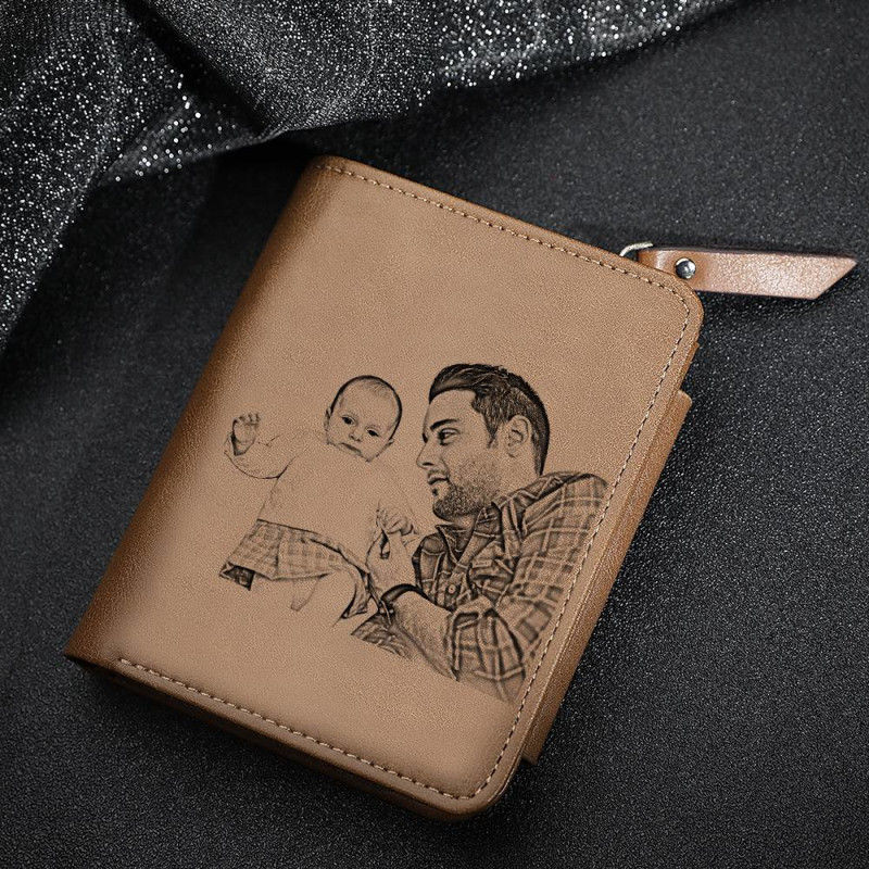 Men S Personalized Photo Wallet Gift Online Store In